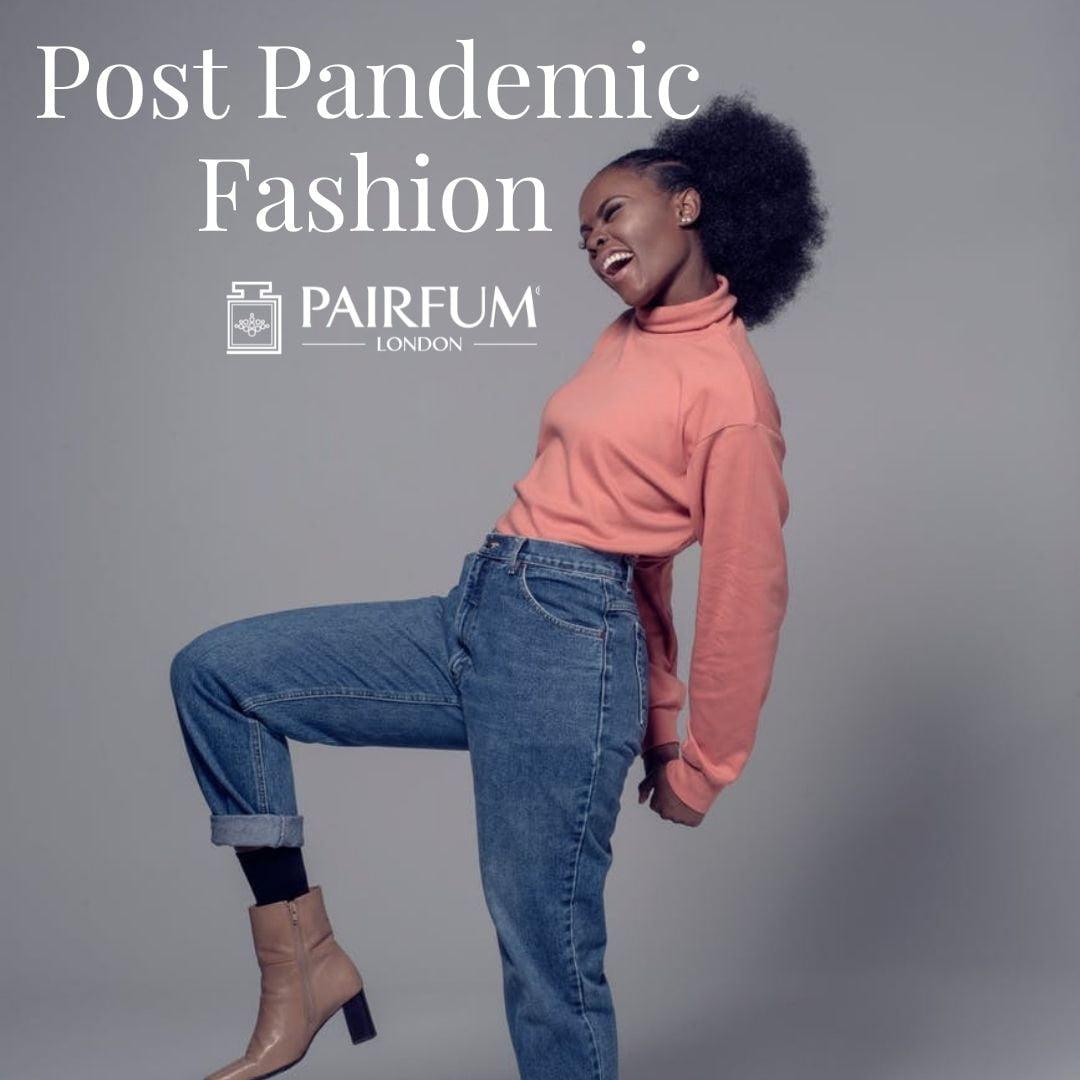 Woman Posing In Post Pandemic Fashion