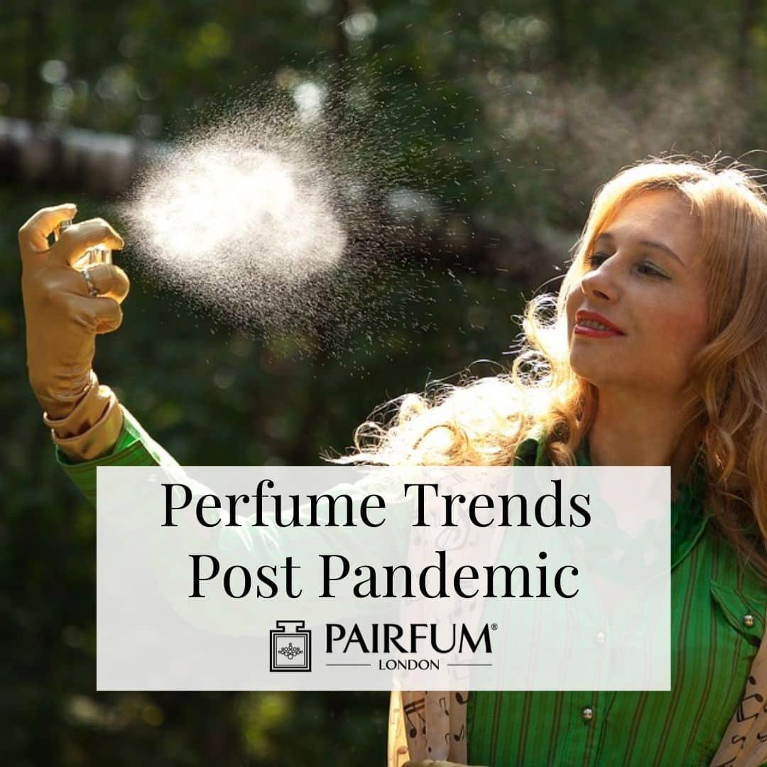 Woman Spraying Pandemic Perfume