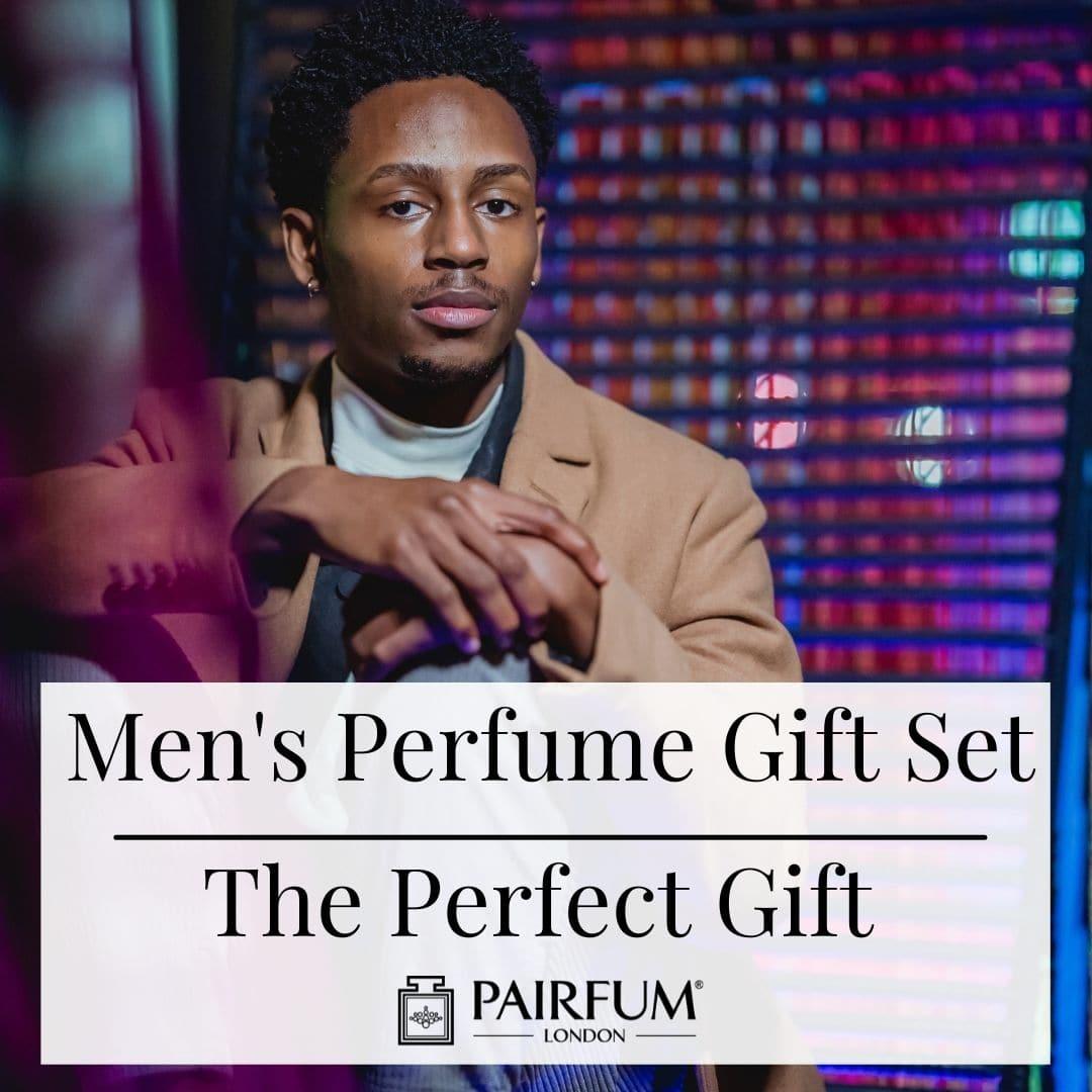Man Wearing Perfume From Gift Set