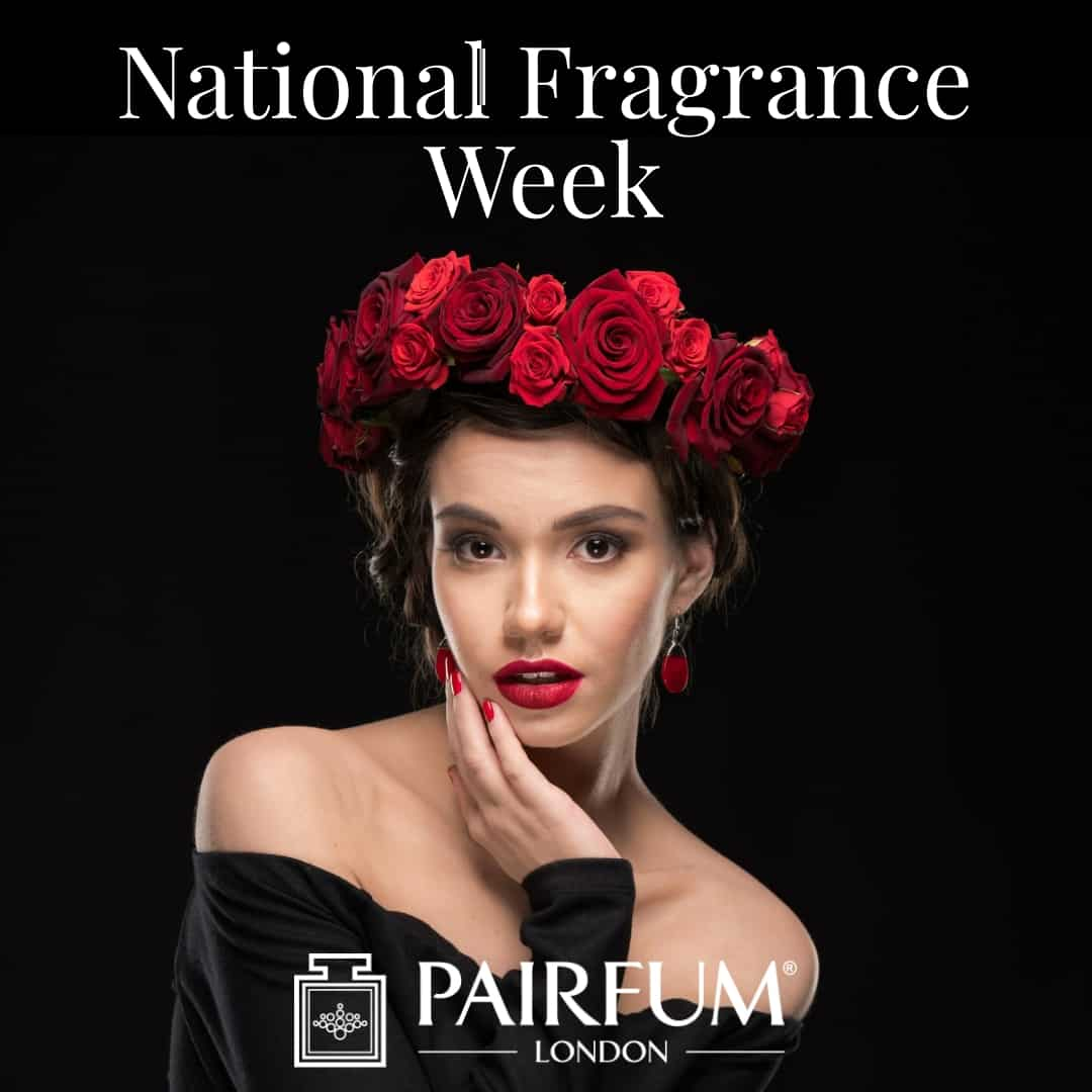 National Fragrance Week Woman Rose Flower Head